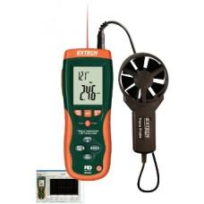 Extech Instruments - Bilgisayar Bağlantılı Anemometre ve IR Termometre HD300
